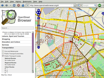 Screenshot of OpenStreetBrowser